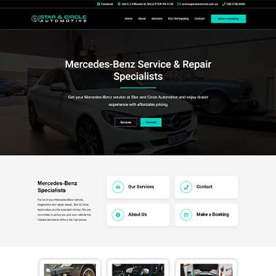 Star and Circle Automotive website